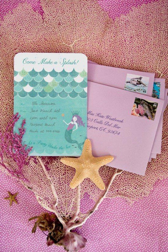 decorate children's birthday beach invitations