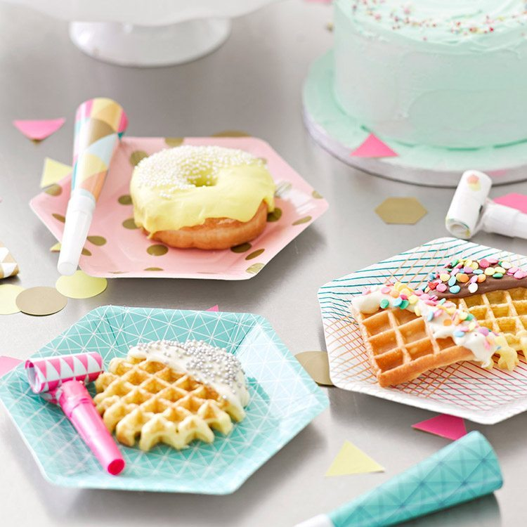 original birthday parties dishes use and throw
