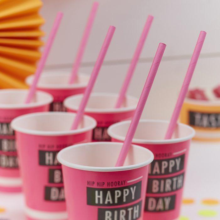 original birthday parties paper cups