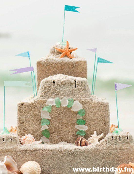 decorate children's birthday sand