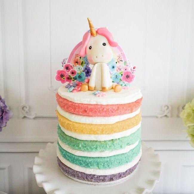 Unicorn themed party cake.