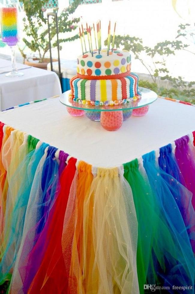 Colorful tulle skirt