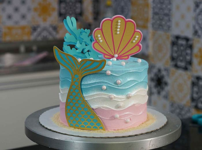 The decoration can refer to a character, like the mermaid