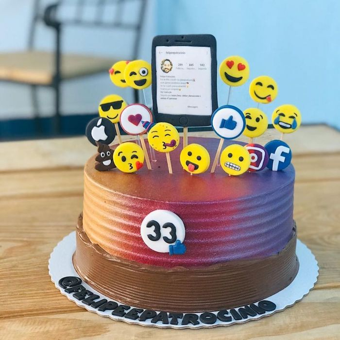 Social networks and emoticons form an unusual topper