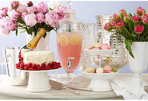 Pink lemonade and macarons.