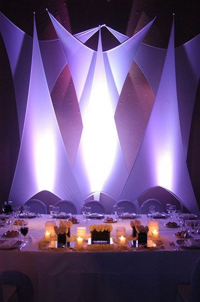 The décor is amazing when there is a combination of fabrics and lights.