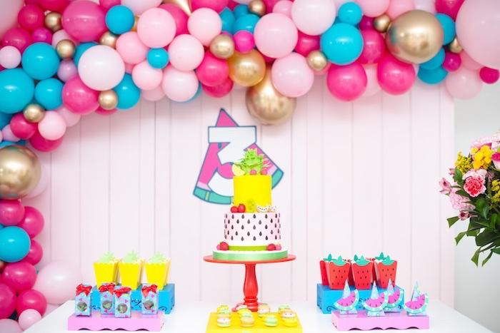 Tutti Frutti themed birthday