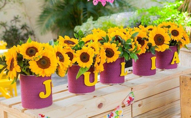 Sunflower themed children's party