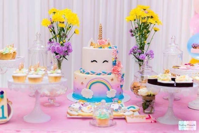Unicorn decoration for children's party