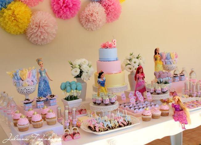Disney Princesses theme party decoration.