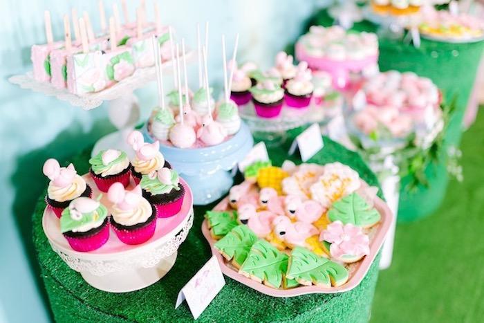 Flamingo themed children's party
