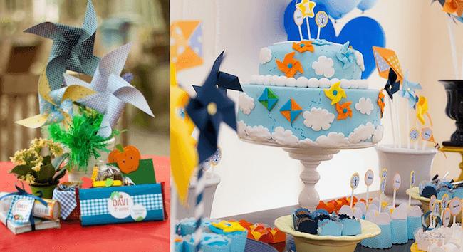 Pinwheel themed children's birthday