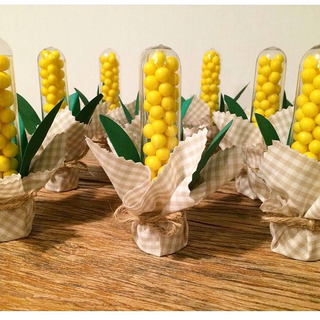 Candy tubes - green corn