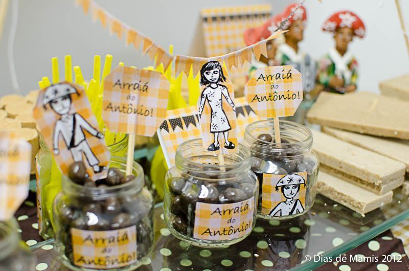 Glass jars with candies