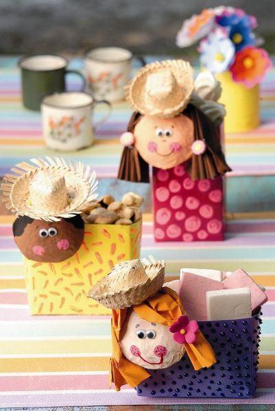 Recyclable souvenir from festa junina