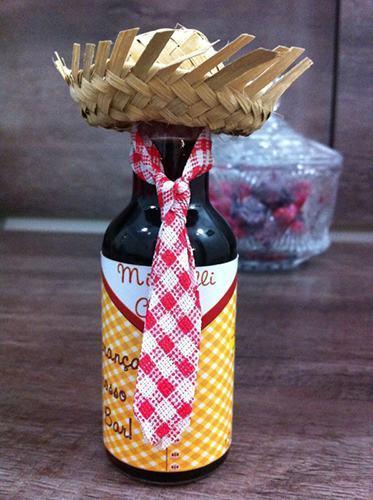 Decorated bottle of festa junina