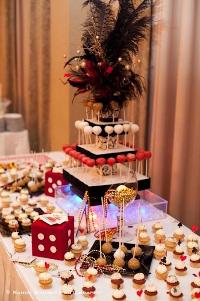Casino theme inspired the decor of this birthday party