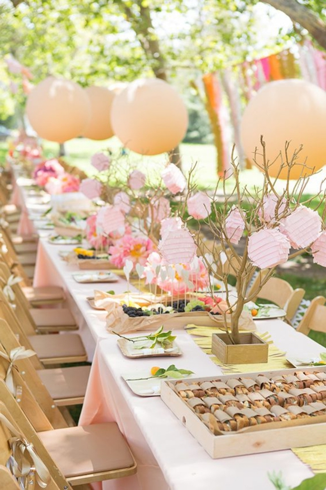 Do you have a yard at home? Set up an outdoor party