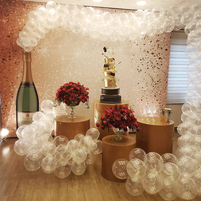Champagne is the theme of this party that celebrates 50 years
