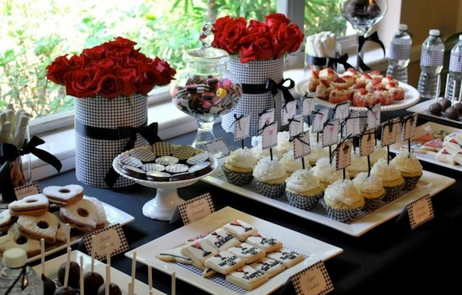 The 50th birthday party menu can include lots of tasty sweets