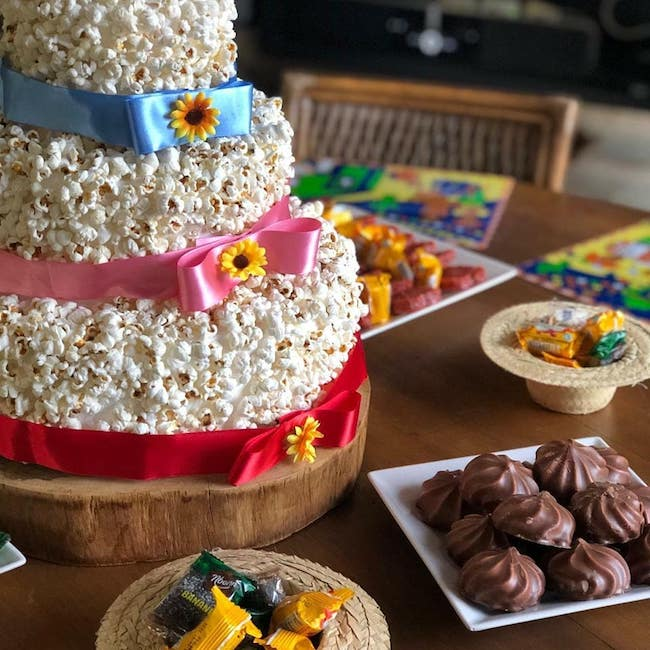 The cake is the star of the June sweet table