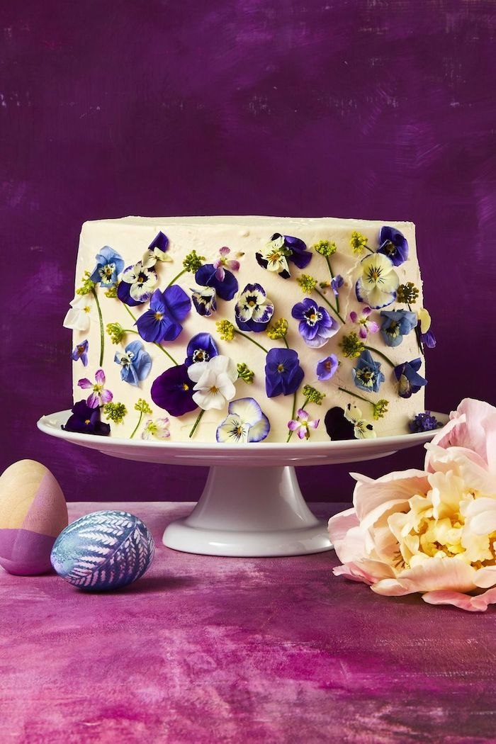 Combine two Mother's Day classics: cake and flowers
