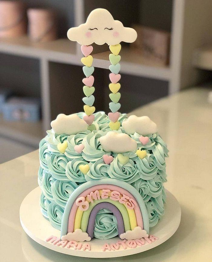 Love rain shower cake