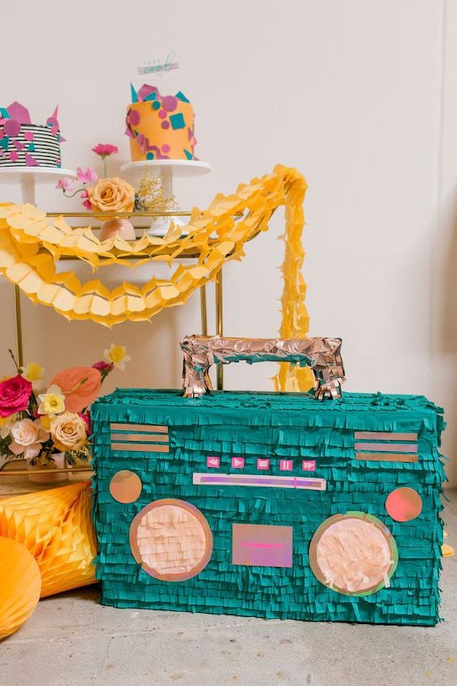 Pinata inspired by the 80's radio