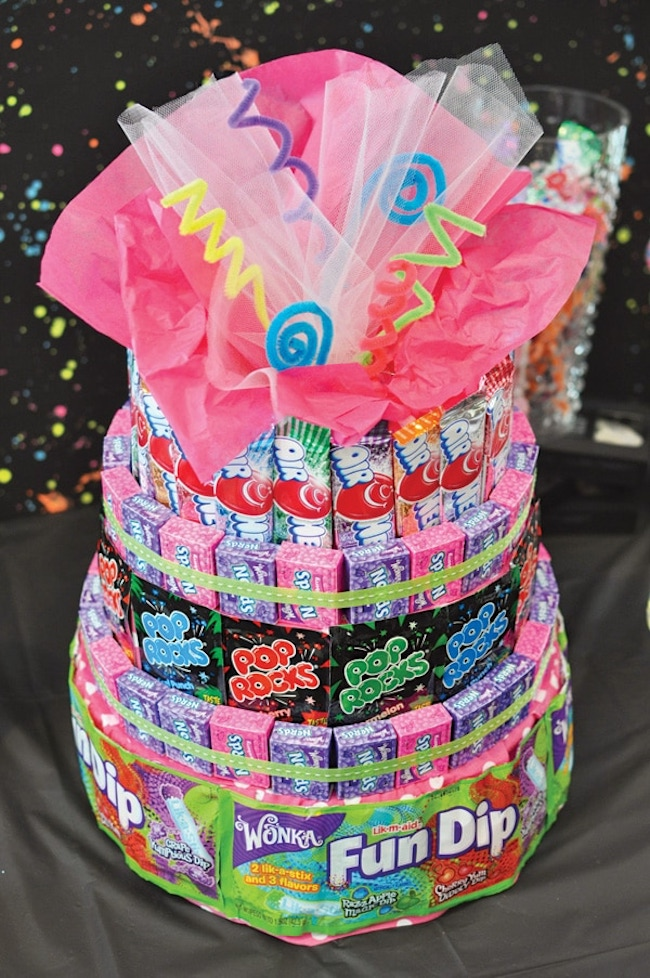 80s candy cake