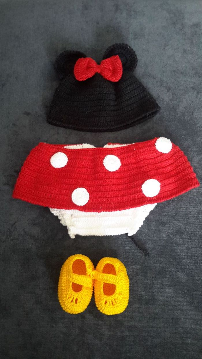 Minnie is also inspiration for baby clothes