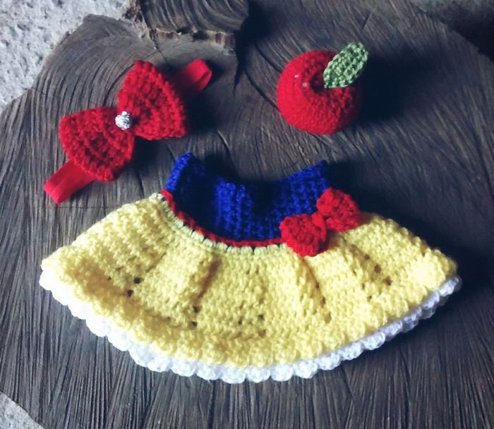Snow White Crochet Dress