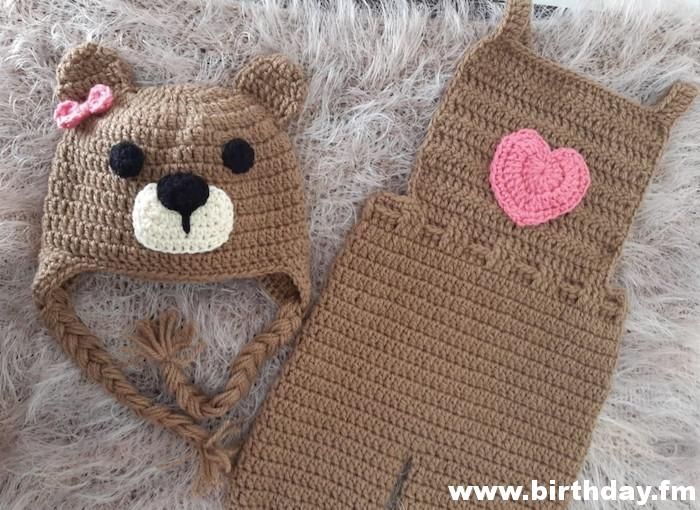 Cute teddy bear outfit for baby