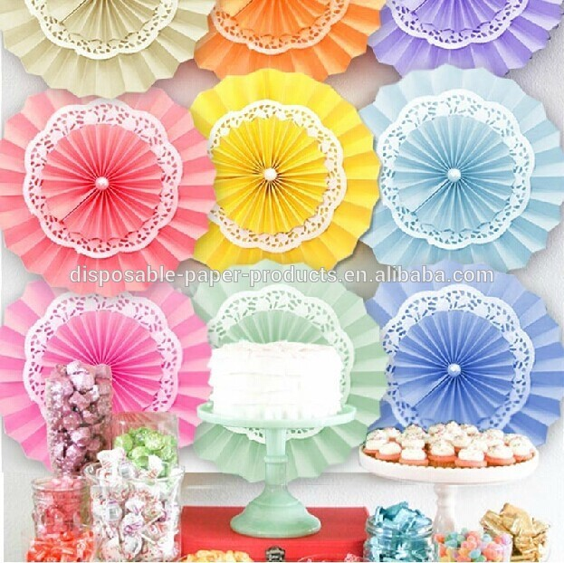 YiWu_Wholesale_Pink_paper_Doily_fans_Paper