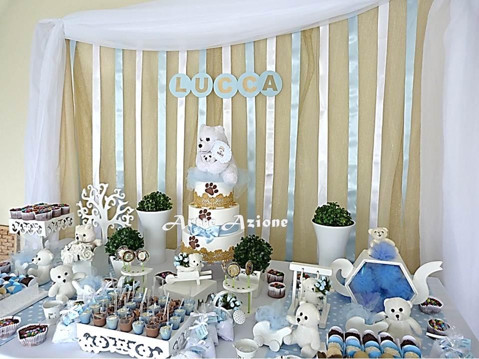 Table bears ribbon panel