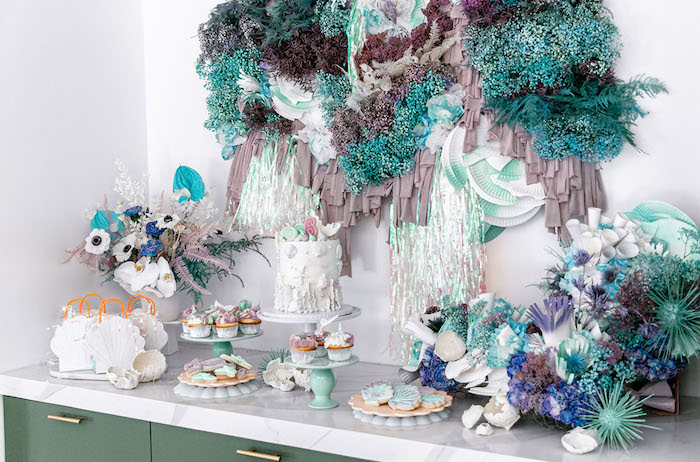 This decoration for Mermaid Party is more exotic