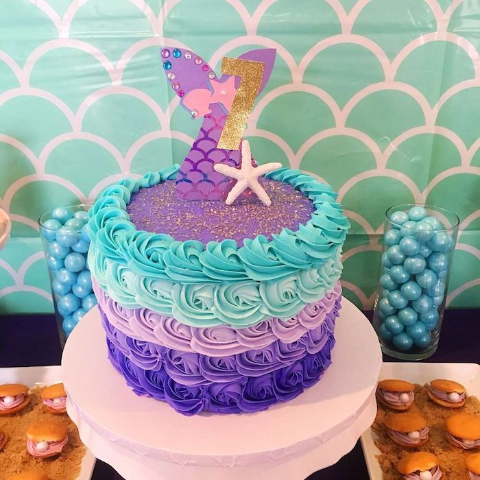 Another beautiful cake idea for a Mermaid Party