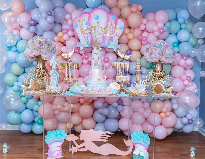 The panel has balloons in different sizes and pastel colors