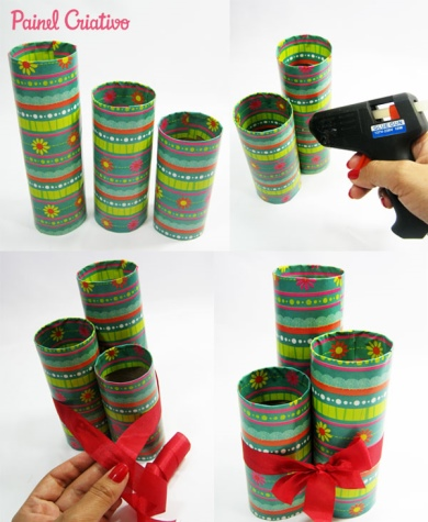 pencil holder with cardboard tubes 5