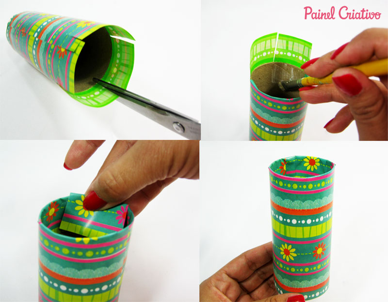 how to make pencil holder tube paper aluminum towel roll toilet paper (3)