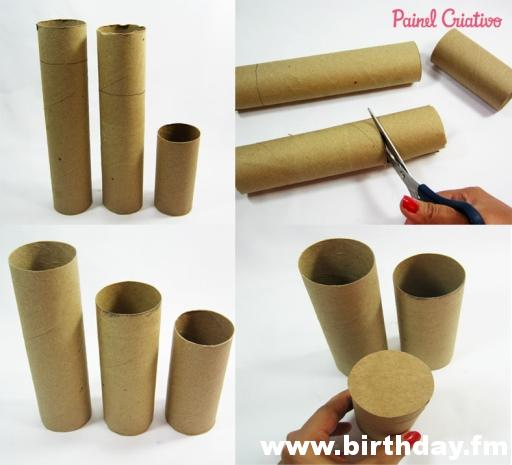 pencil holder with cardboard tubes 2