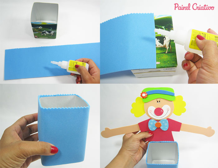 how to make children's day souvenir from eva clown (4)