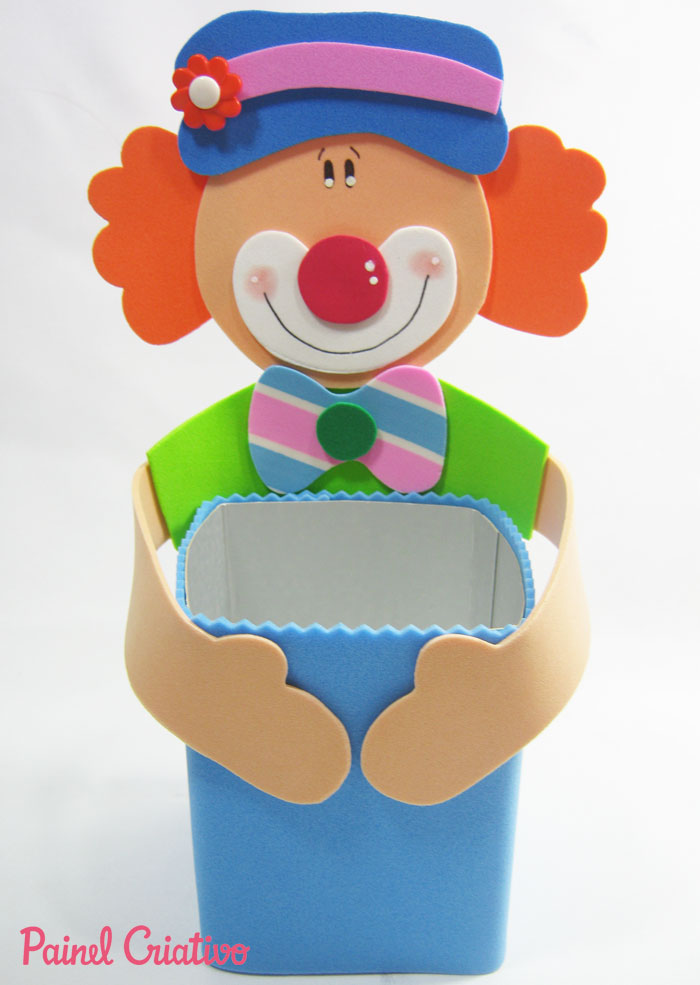 how to make children's day souvenir from eva clown (5)