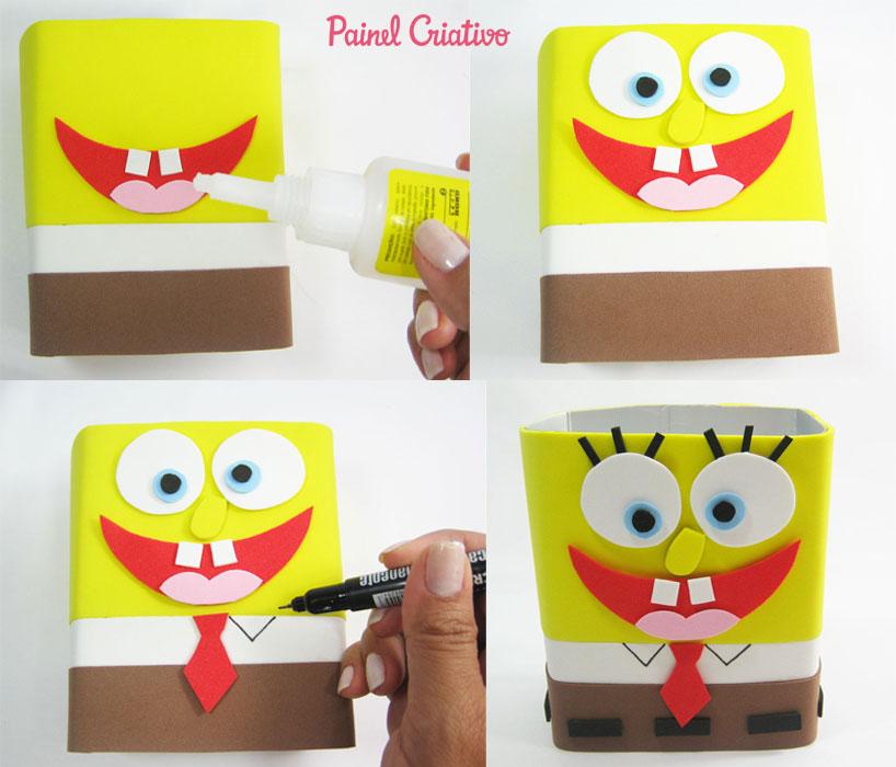 how to make sponge bob souvenir eva birthday children's day (3)