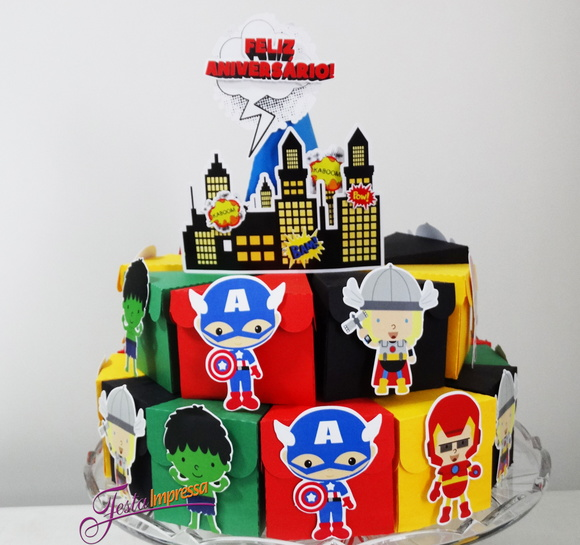 paper-cake-scenery-of-paper-heroes-baby