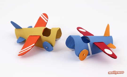 airplane made with toilet paper roll 8